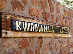 Unspoilt bushveld surrounds Kwamahla Lodge